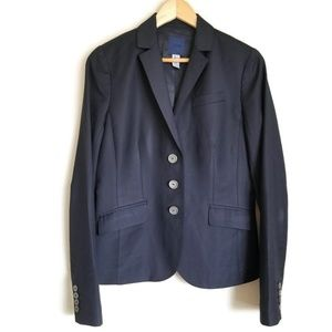 j. crew tailored super 120 wool blazer navy sz 8T